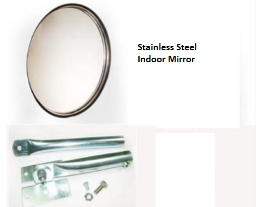 Stainless Steel Indoor Convex Mirror
